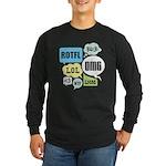 Text Shortcuts Long Sleeve Dark T-Shirt