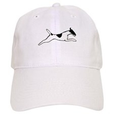 Leaping Smooth Fox Terrier Baseball Cap