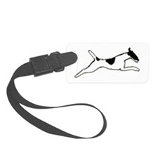 Leaping Smooth Fox Terrier Luggage Tag
