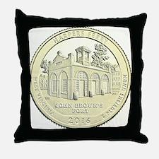 West Virginia Quarter 2016 Basic Throw Pillow