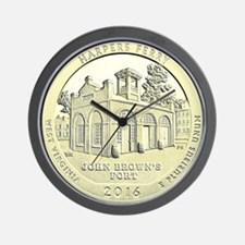 West Virginia Quarter 2016 Basic Wall Clock
