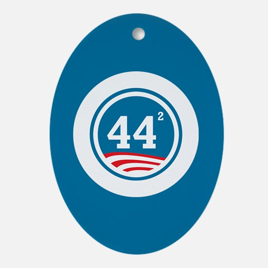 44 Squared Obama Ornament (Oval)