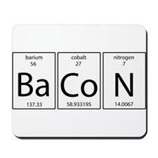 Bacon periodic Mousepad