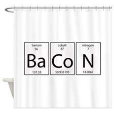 Bacon periodic Shower Curtain