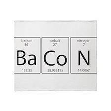 Bacon periodic Throw Blanket