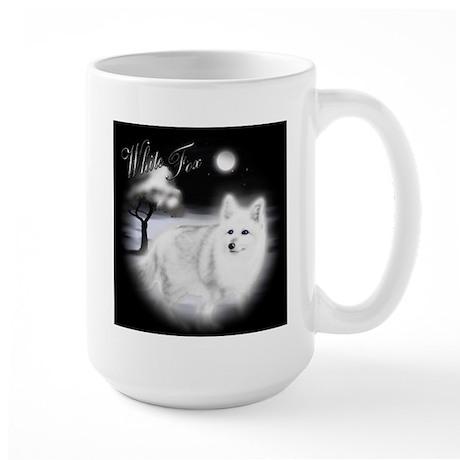 White Fox Large Mug