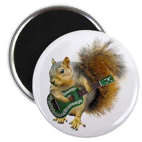 """Squirrel Ukulele 2.25"""" Magnet (10 pack)"""