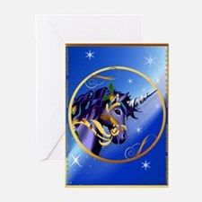 Greeting Card Magical Christmas Unicorn Face Greet