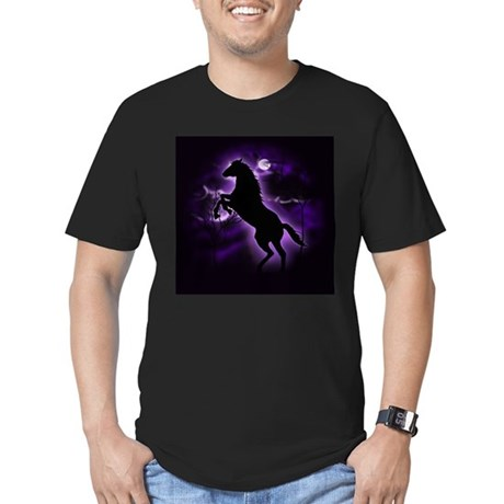 Lightning Horse Men's Fitted T-Shirt (dark)