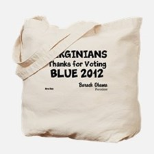 Virginia Votes Blue 2012 Tote Bag