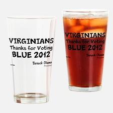 Virginia Votes Blue 2012 Drinking Glass