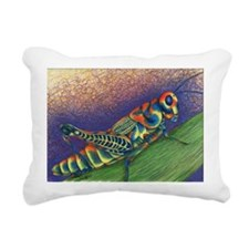 Painted Grasshopper Rectangular Canvas Pillow