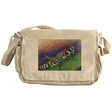 Painted Grasshopper Messenger Bag