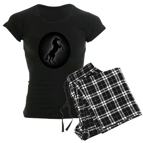 Wild Stallion In Gray Women's Dark Pajamas