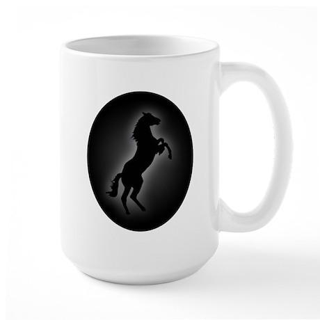 Wild Stallion In Gray Large Mug