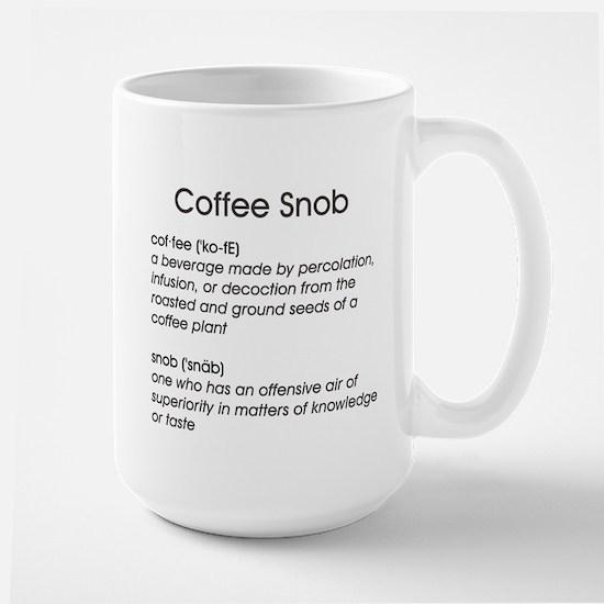 Coffee Snob Large Mug