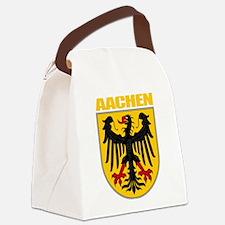 Aachen (gold).png Canvas Lunch Bag