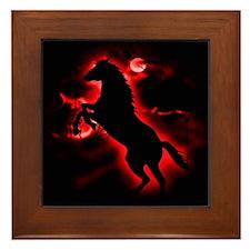 Fire Horse Framed Tile