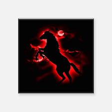 """Fire Horse Square Sticker 3"""" x 3"""""""