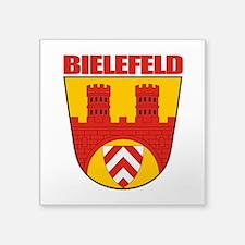 """Bielefeld COA.png Square Sticker 3"""" x 3"""""""
