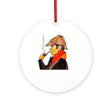 Sherlock Holmes Logo Ornament (Round)