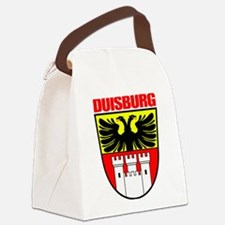 Duisburg (red).png Canvas Lunch Bag