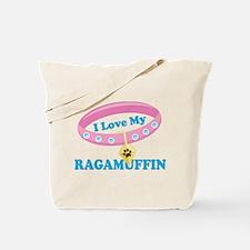 I Love My Ragamuffin Cat Tote Bag