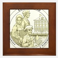New Jersey Quarter 2017 Framed Tile