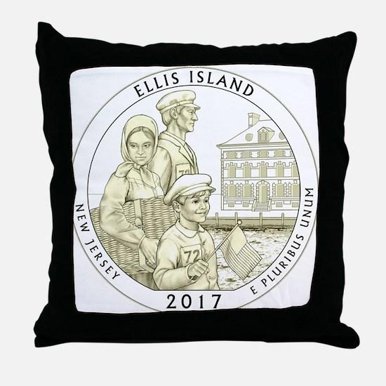 New Jersey Quarter 2017 Throw Pillow