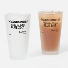 Wisconsin Votes Blue Drinking Glass