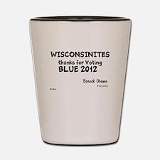 Wisconsin Votes Blue Shot Glass