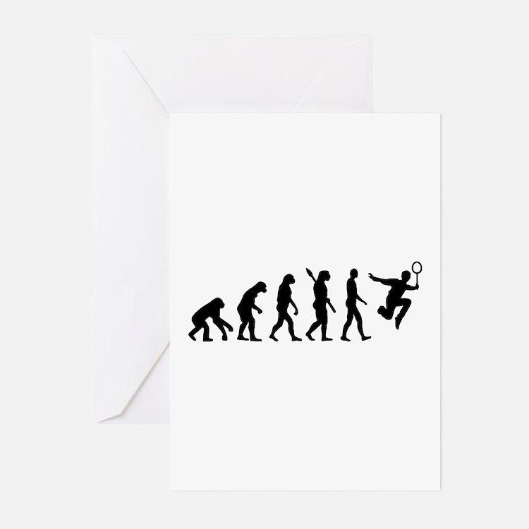 Evolution Badminton Greeting Cards (Pk of 10)