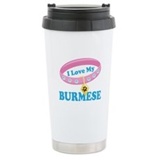 I Love My Burmese Cat Travel Coffee Mug