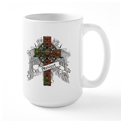 Stewart Tartan Cross Large Mug