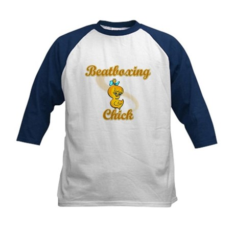 Beatboxing Chick #2 Kids Baseball Jersey