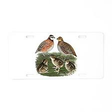 Bobwhite Family Aluminum License Plate