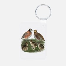 Bobwhite Family Aluminum Photo Keychain