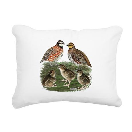 Bobwhite Family Rectangular Canvas Pillow