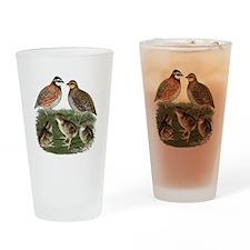 Bobwhite Family Drinking Glass
