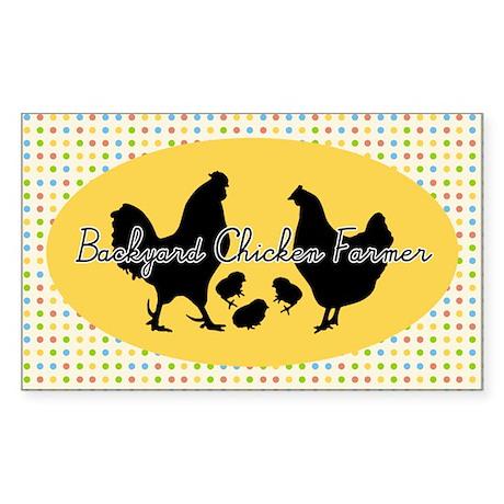 Backyard Chicken Farmer Sticker