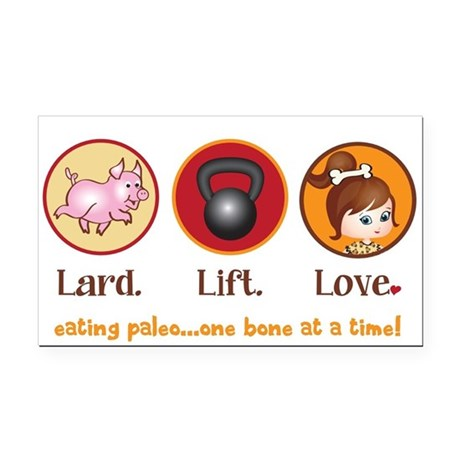 Lard. Lift. Love. Rectangle Car Magnet