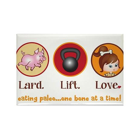 Lard. Lift. Love. Rectangle Magnet