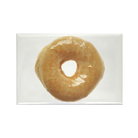 Doughnut Raised Glazed Rectangle Magnet