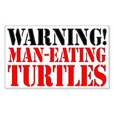 Man Eating Turtles Sticker (3 x 5)