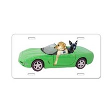 Dogs Green Car Aluminum License Plate