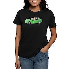 Dogs Green Car Tee