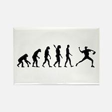 Evolution Baseball Rectangle Magnet