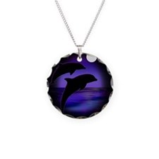 Dolphins At Midnight Necklace