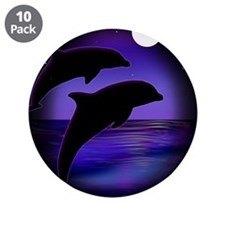 "Dolphins At Midnight 3.5"" Button (10 pack)"