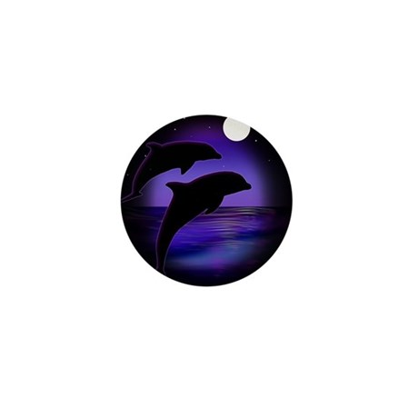 Dolphins At Midnight Mini Button (10 pack)